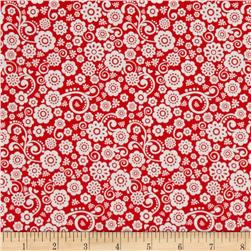 Riley Blake Happy Day Floral Red