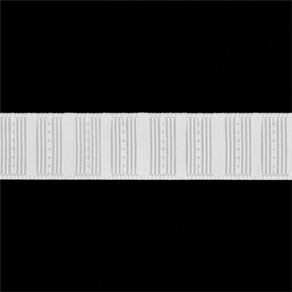 Riley Blake 5/8'' Grosgrain Stripes Ribbon White