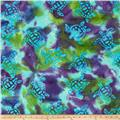 Indian Batik Sandy Hook Turtle Aqua/Lime