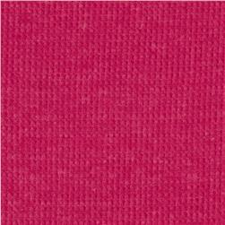 Cotton Thermal Knit Heather Hot Pink