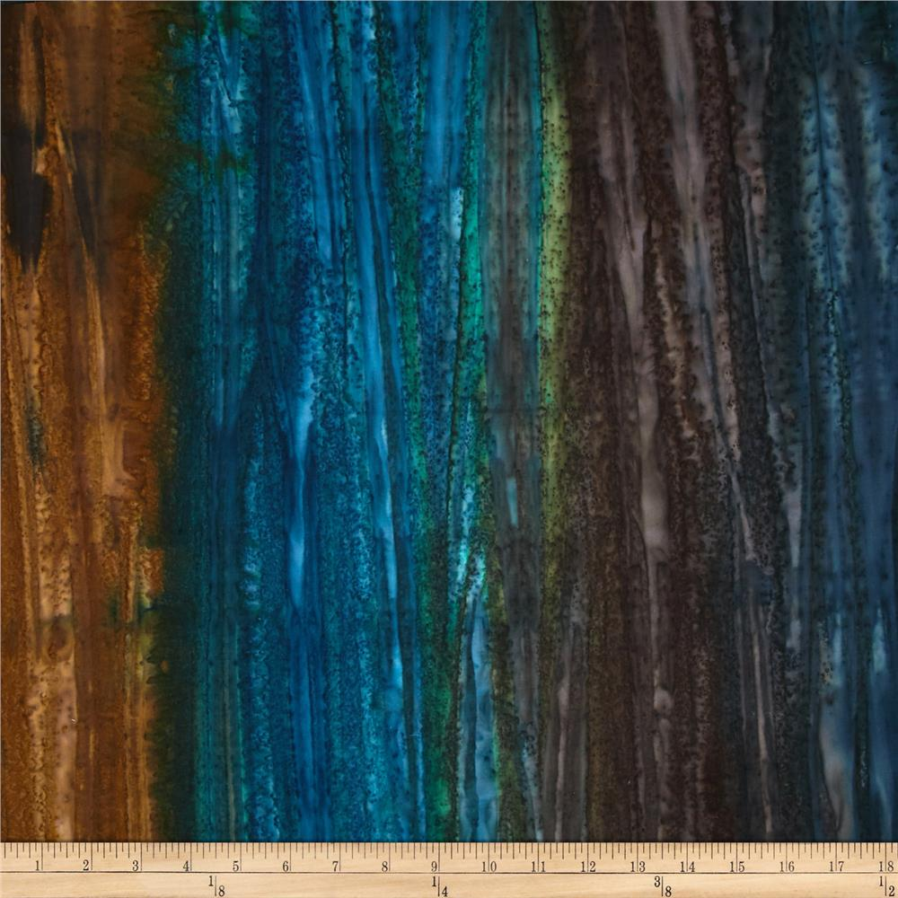 Kaufman Artisan Handpaints Ombre Stripe Lake