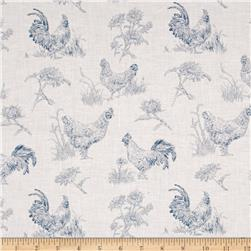 Early to Rise Toile Cream/Blue