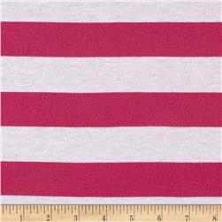 Jersey Knit Stripe Pink/White