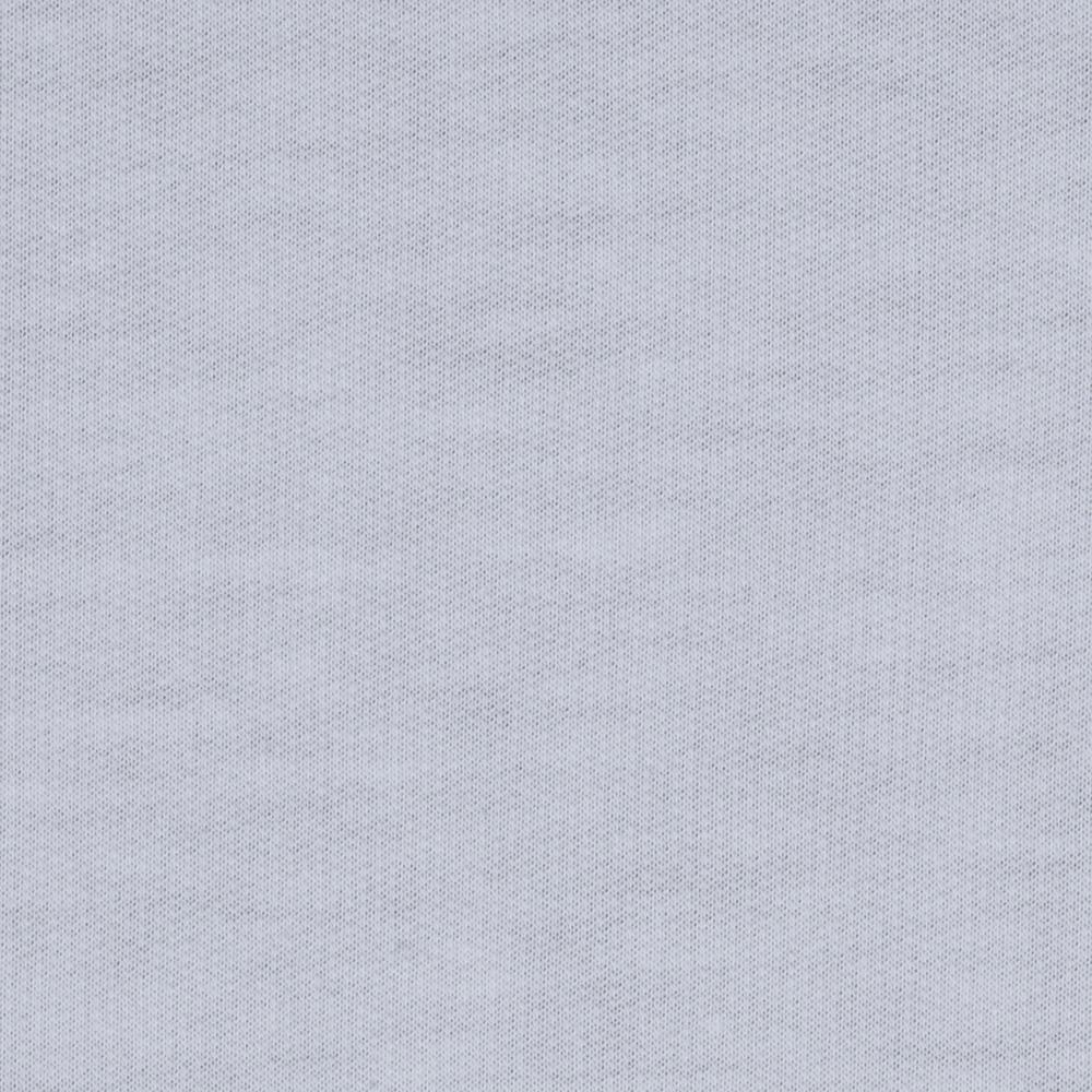 French Terry Knit Solid Pure White