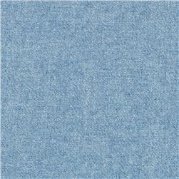Kaufman Chambray 4.5 Oz Washed Light Indigo