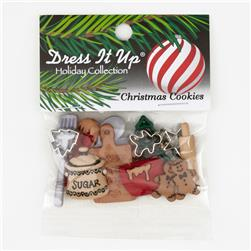 Dress It Up Embellisment Buttons  Christmas Cookies