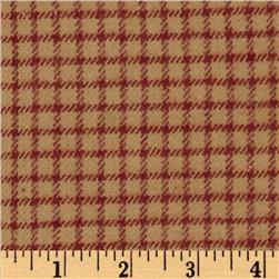 Primo Plaids V Flannel Gingham Red Fabric
