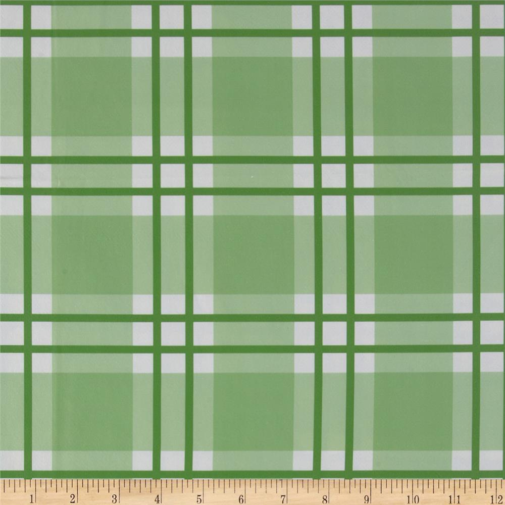 Livingston Vinyl Plaid Green