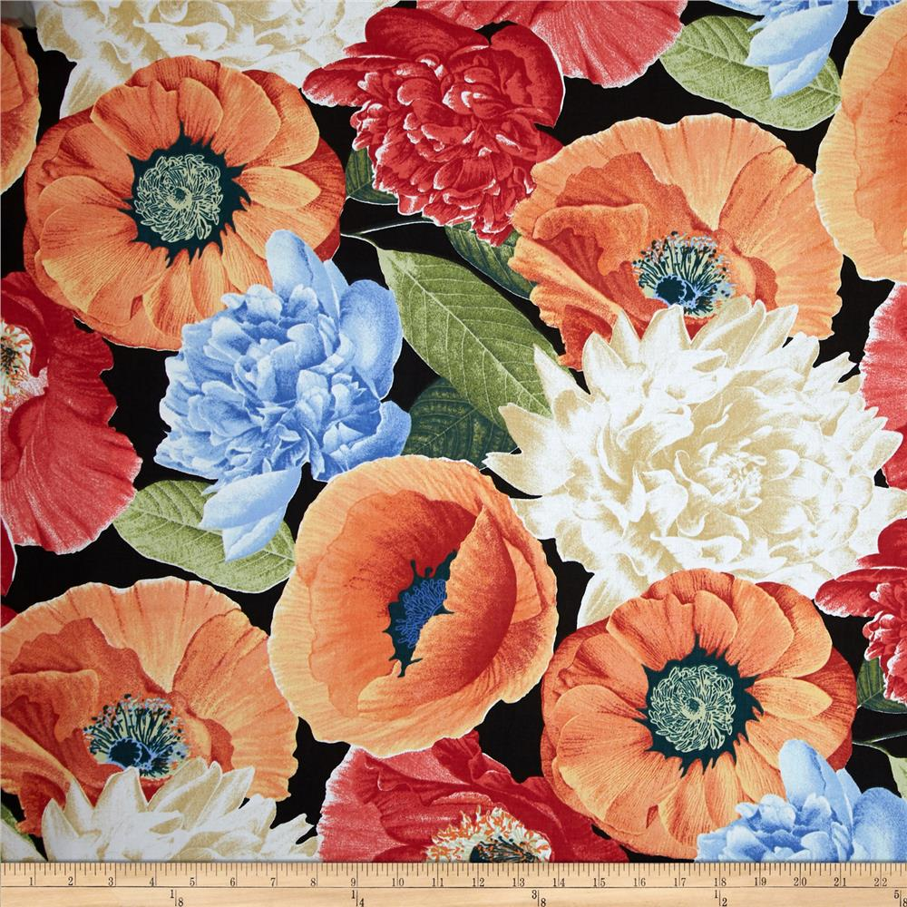 Richloom R Gallery Sidera Sateen Poppy