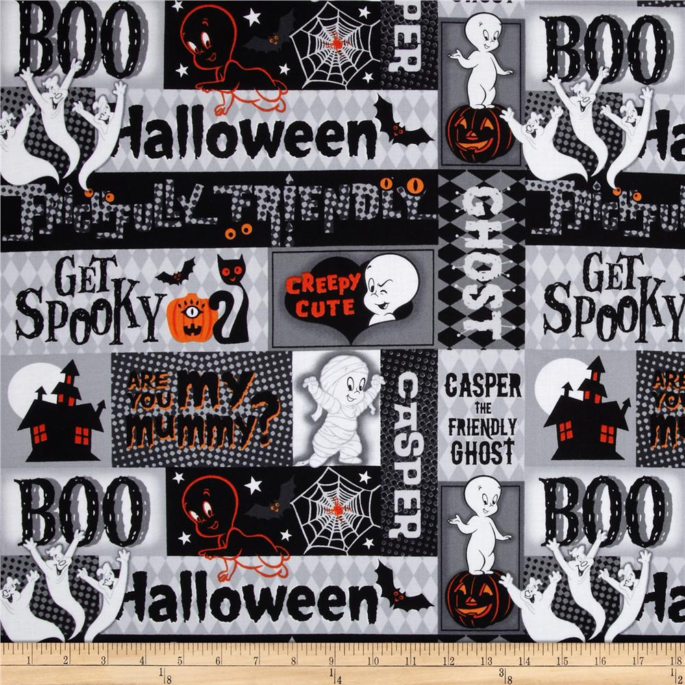 Creepy Cute Halloween Patch Black