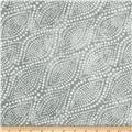 "Diagonal Dots 108"" Wide Quilt Backing Back Silver"