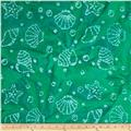 Indian Batik Shells Green