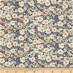 Liberty of London Seasonal Tana Lawn Alice W White/Grey/Orange