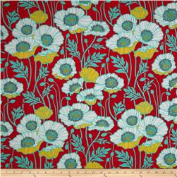 Joel Dewberry Notting Hill Cotton Voile Pristine Poppy