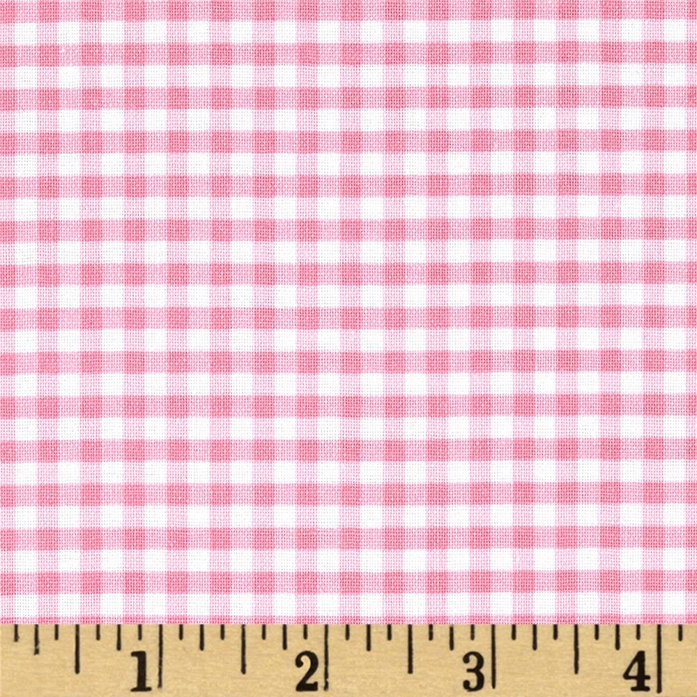 Riley blake 1 8 gingham baby pink discount designer for Gingham fabric