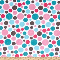 Minky Classic Bubble Dot Cuddle Hot Pink/Teal