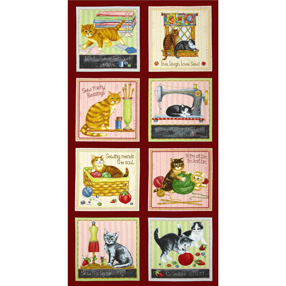Purrfect Notions Cat Panel Multi