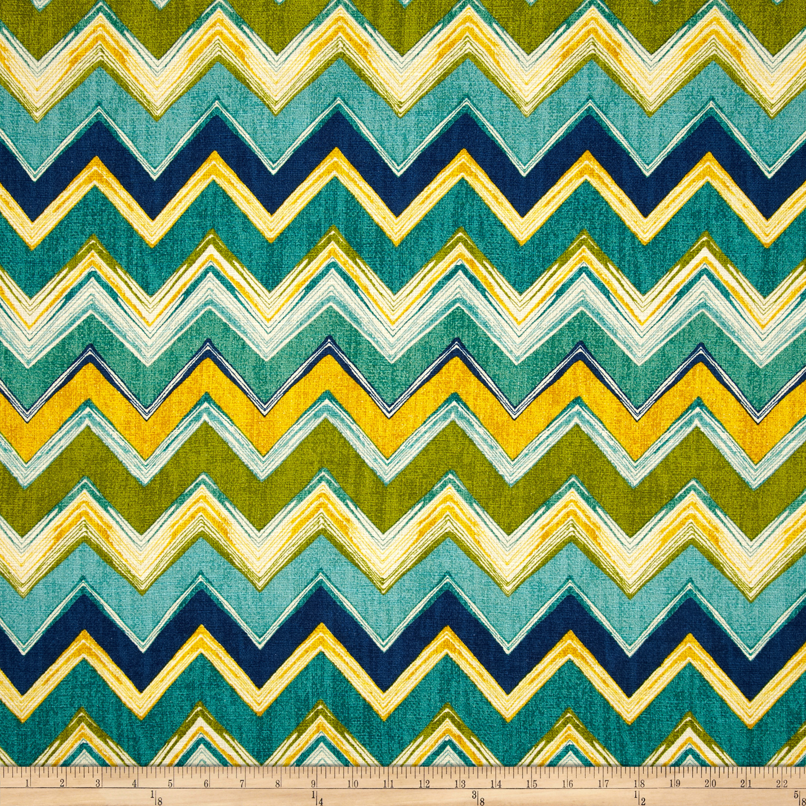 Swavelle/Mill Creek Clement Chevron Meadow Fabric