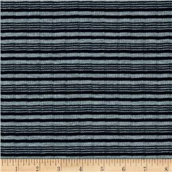 Poor Boy Rib Knit Stripe Navy/Gray