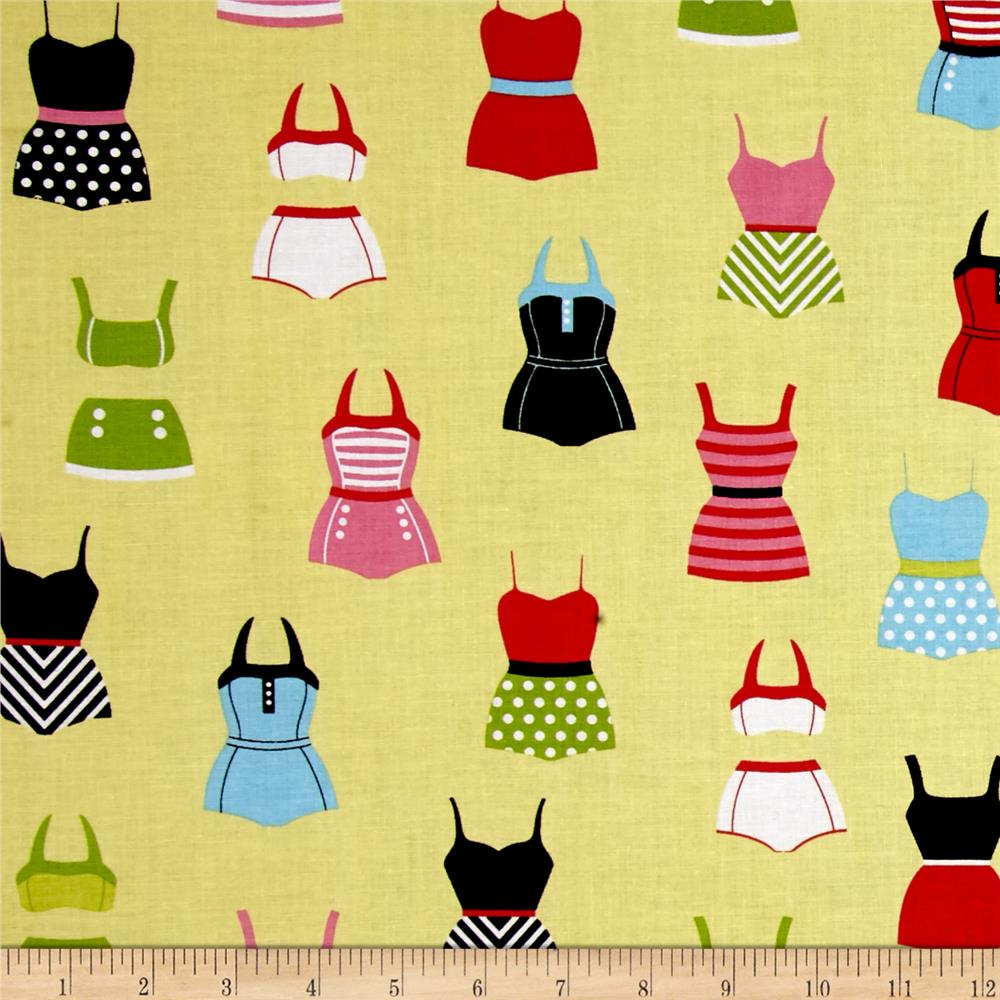Riley Blake Designer Novelty Swimsuits Yellow