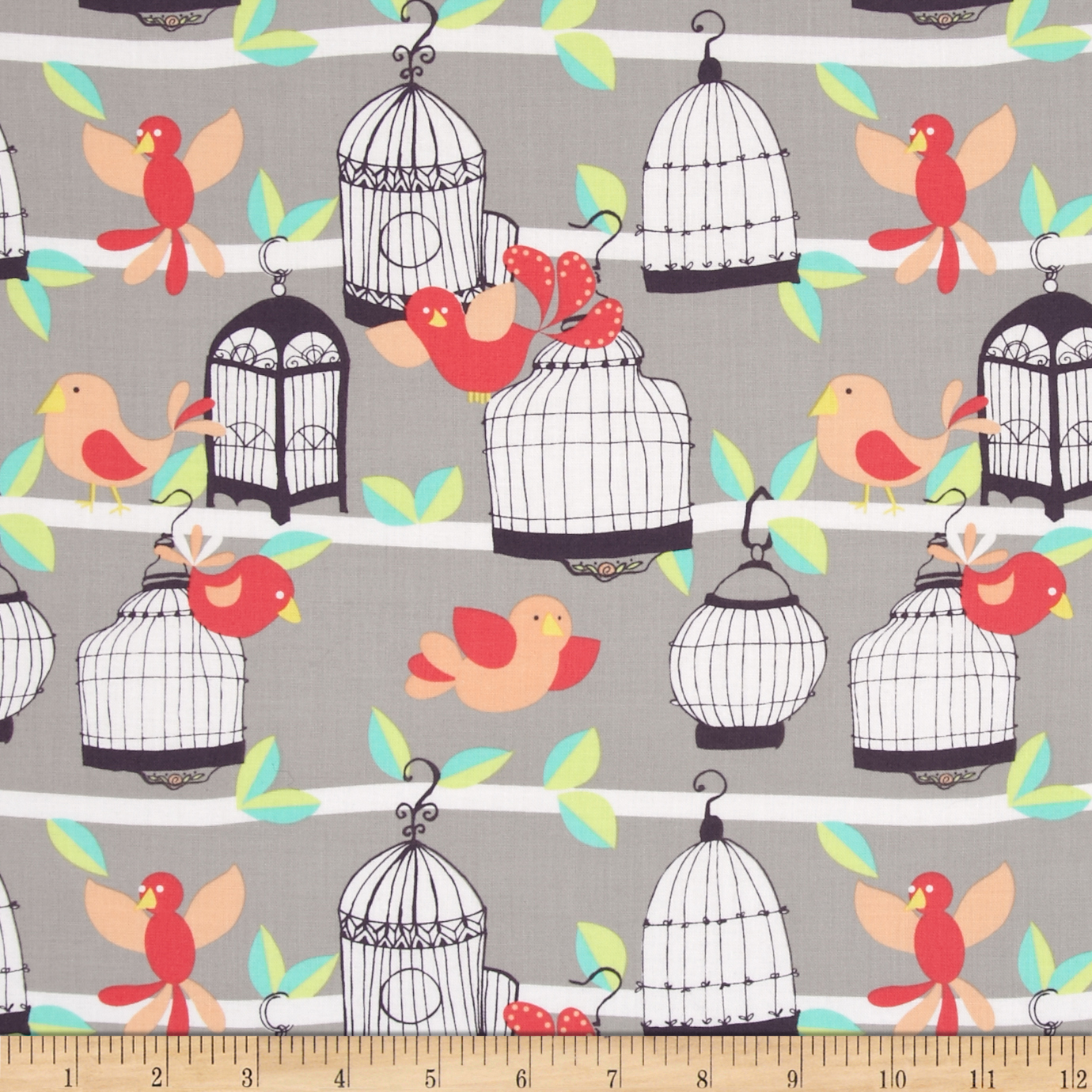Michael Miller Fly Away Stone Fabric by Michael Miller in USA