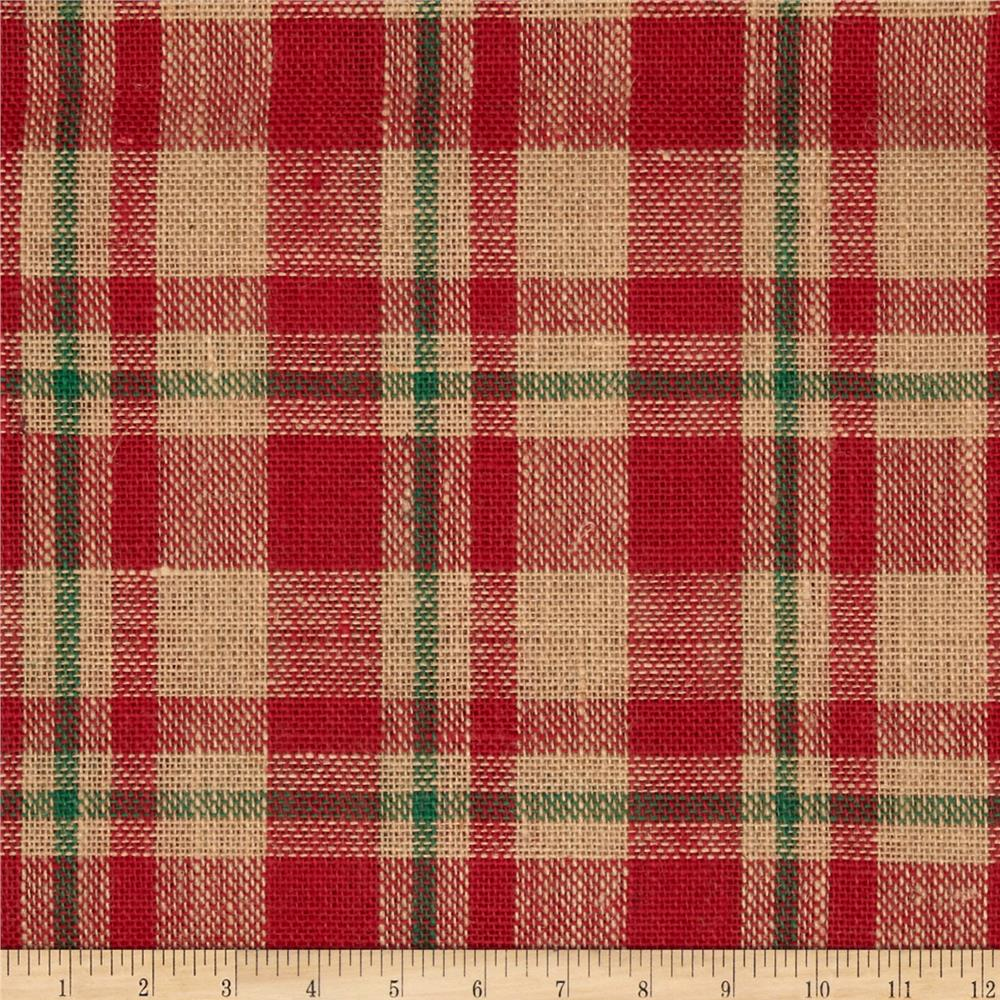 "60"" Sparkle Burlap Red Plaid"
