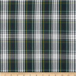 Polyester Uniform Plaid Green/White/Yellow