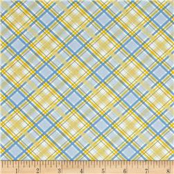 Walking on Sunshine Plaid Blue Yellow