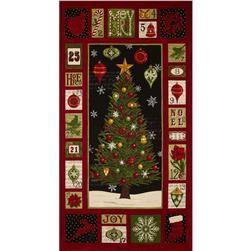 Moda Christmas Countdown Panel Midnight Black