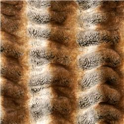 Tissavel Luxury Faux Shar-Pei Chinchilla Fur Gold Fabric