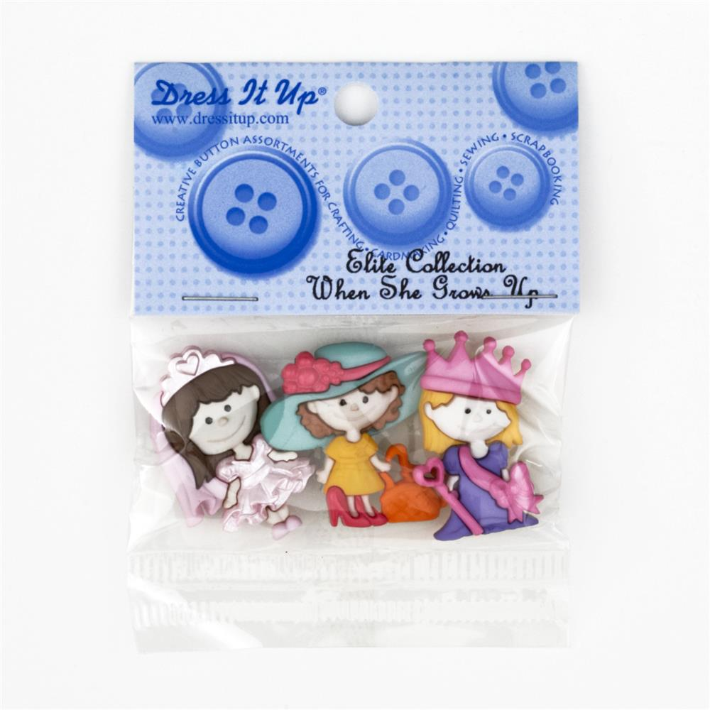 Dress It Up Embellishment Buttons When She Grows