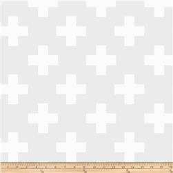 Opalscent Swiss Cross White