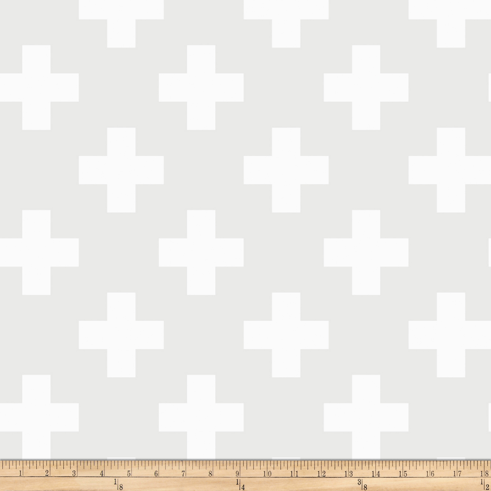 Opalscent Swiss Cross White Fabric by Eugene in USA