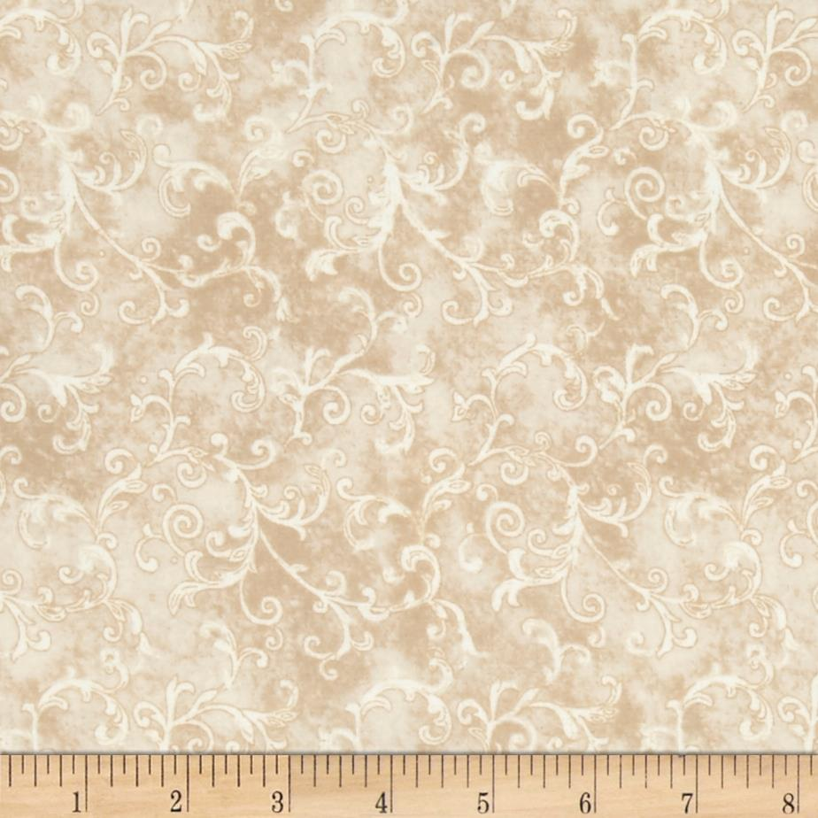 Essentials 108'' Wide Back Flannel Filigree Light Tan Fabric