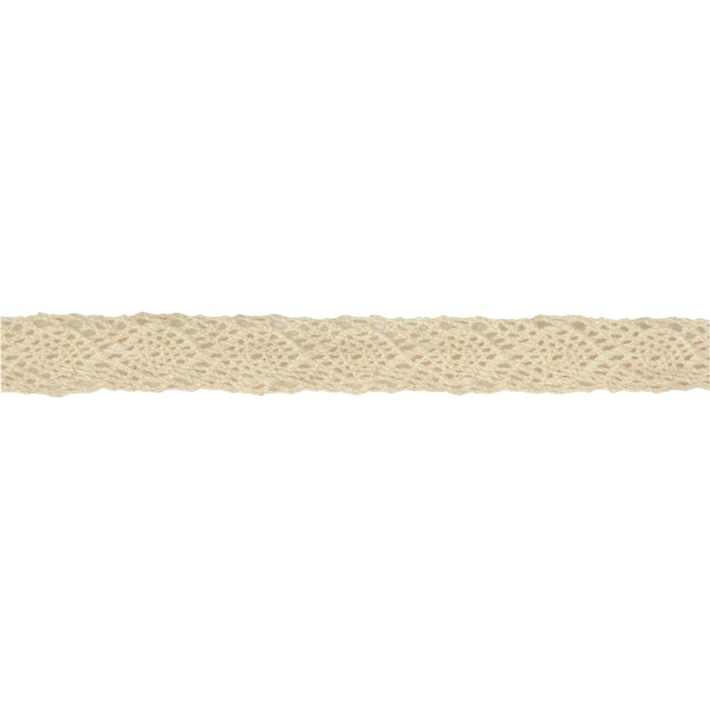 1/2'' Crochet Lace Ribbon Ivory
