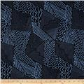 Sketchbook Geometric Patch Black/Blue