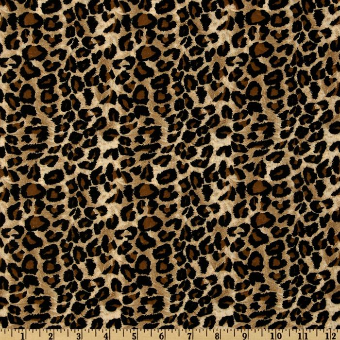 Leopard Print Fabric large cheetah tan/black - discount designer fabric - fabric
