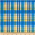 Minky Candy Plaid Blue/Yellow