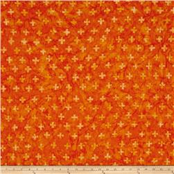 Timeless Treasures Tonga Batik Jelly Bean Plus Sign Orange