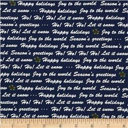 Winter Wishes Winter Words Navy