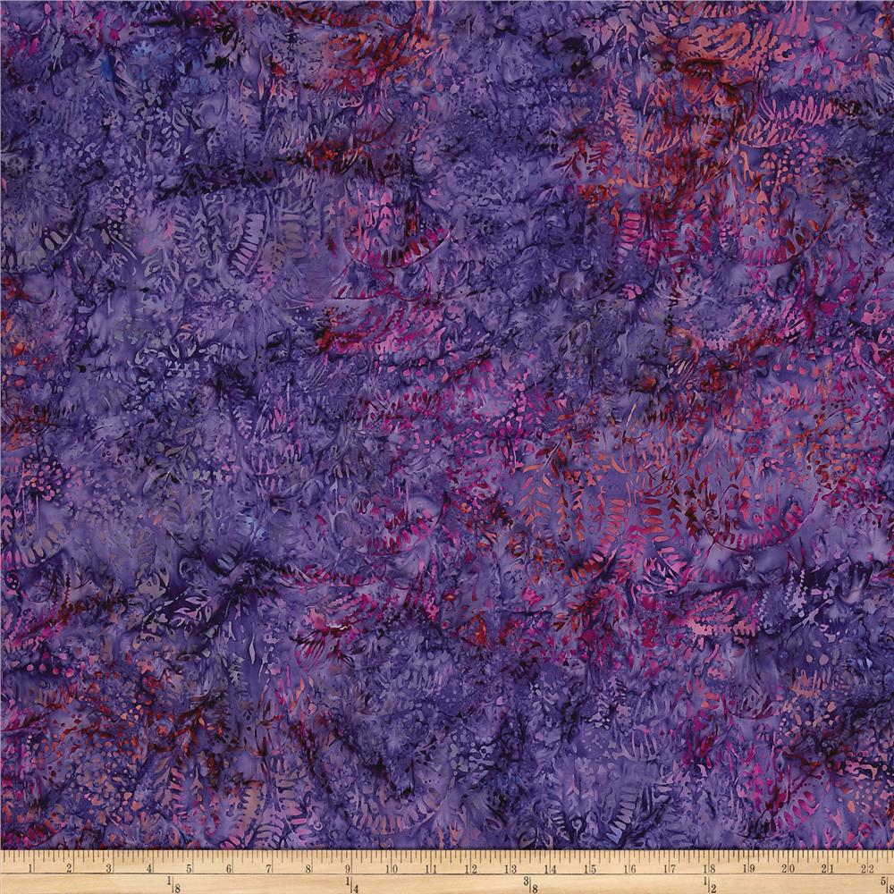 Island Batik Spider Web Purple/Orange/Pink