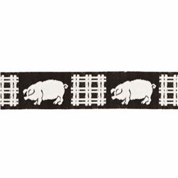 5/8'' Ribbon Pigs Black/White