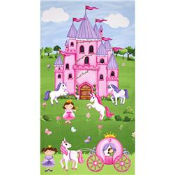 Little Princess Castle 23 In. Panel  Multi