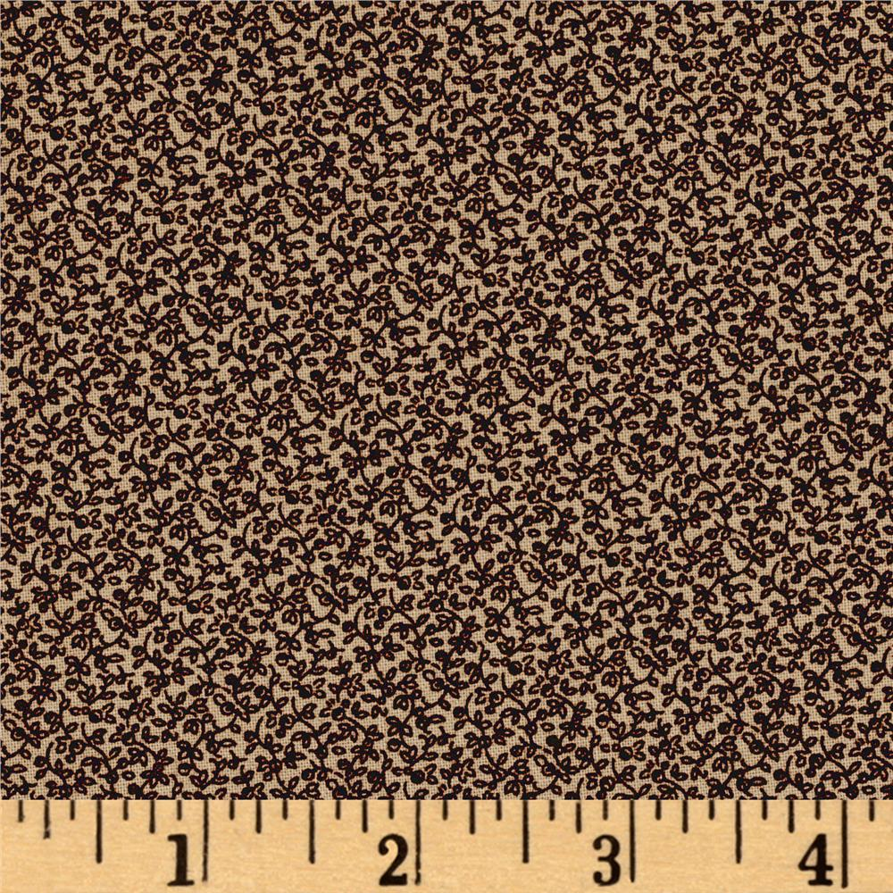 Molly B's Basic Shirtings Garden of Daisies Brown/Tan