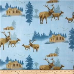 Fleece Print Lake Georgle Blue
