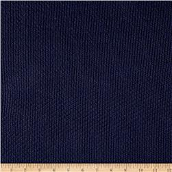 Sweater Knit Solid Navy