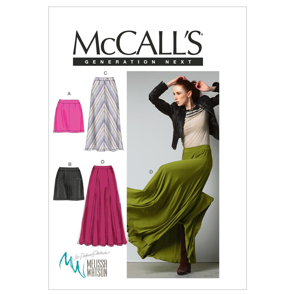 McCall's Misses' Skirts Pattern M6608 Size AX5