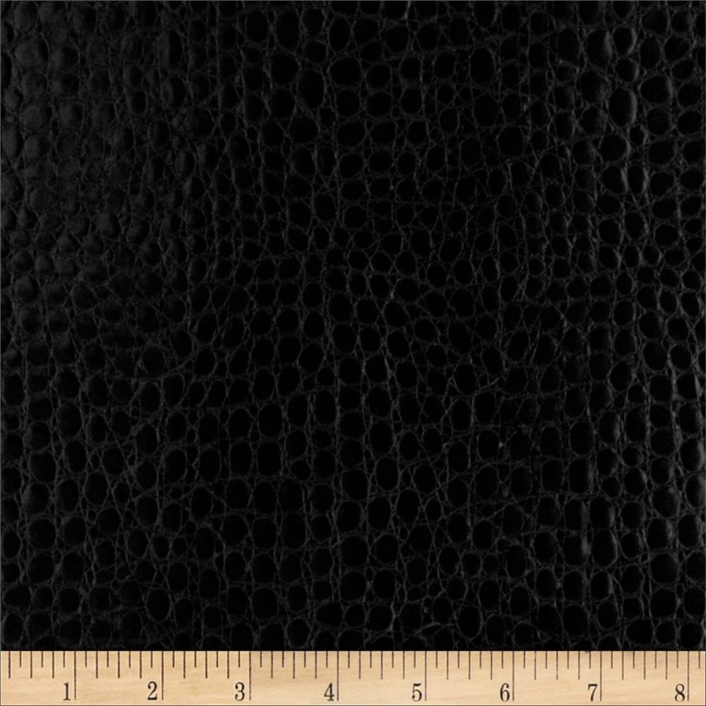 Faux leather crocodile black discount designer fabric for Black fabric