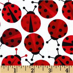 Urban Zoologie Ladybugs Red Fabric