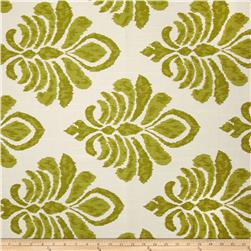 Robert Allen Crypton Elan Damask Slub Lemongrass Fabric